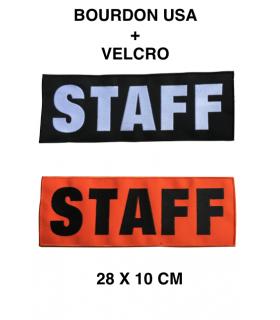 Bande de fonction SÉCURITÉ STAFF sur velcro