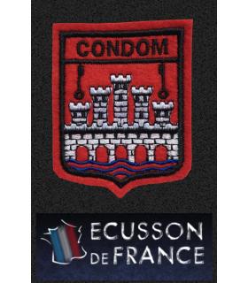 Ecusson brodé Ville de CONDOM