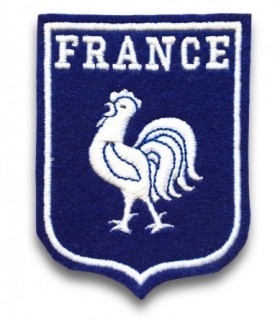 Ecusson brodé thermocollant FRANCE COQ  Football