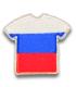Ecusson maillot Russie adhésif