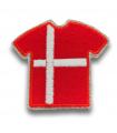 Ecusson maillot Danemark adhésif