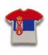 Ecusson maillot Serbie adhésif