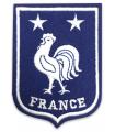 Ecusson FRANCE COQ  2 étoiles