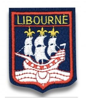 Ecusson brodé Ville LIBOURNE