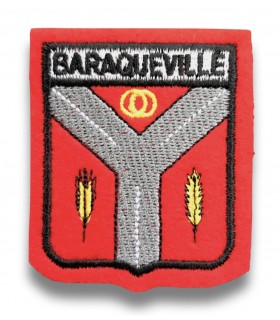 Ecusson brodé Ville BARAQUEVILLE