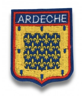 Ecusson brodé département ARDECHE