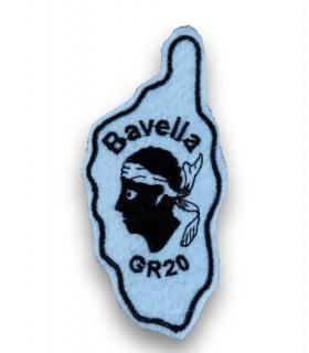 Ecusson brodé Ville BAVELLA CORSE GR20