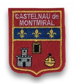 Ecusson brodé Ville CASTELNAU DE MONTMIRAIL