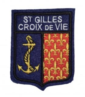 Ecusson brodé Ville de ST GILLES CROIX DE VIE