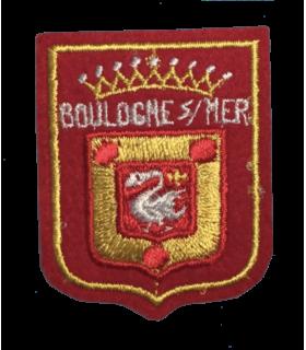 Ecusson brodé Ville de Boulogne / Mer