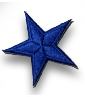 ÉCUSSON THERMOCOLLANT étoile 6cm bleu