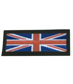 Ecusson brodé UNION JACK rectangle Thermocollant