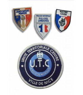 écusson brodé sur velcro police gendarmerie