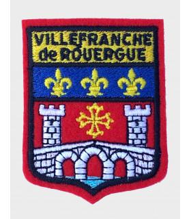 écusson brodé Ville de Villefranche de Rouergue