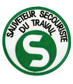 écusson SST sauveteur secouriste du travail