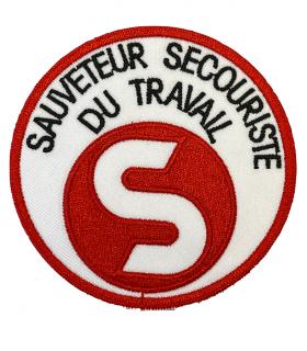 Ecusson SST ROUGE Sauveteur Secouriste du Travail