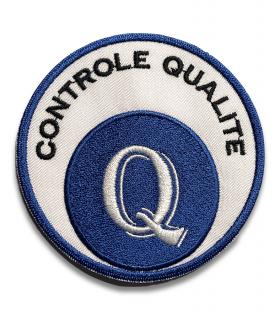 écusson brodé controle qualité