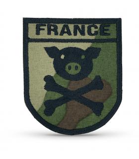 écusson camouflage france cochon pirate