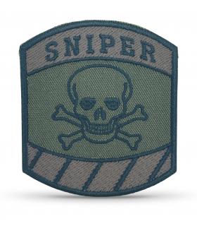 écusson brodé sniper marron velcro