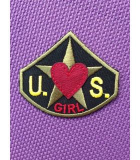 ÉCUSSON US ARMY COEUR